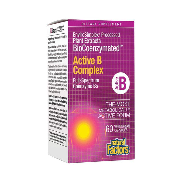 Natural Factors Active B Complex 60 Capsules