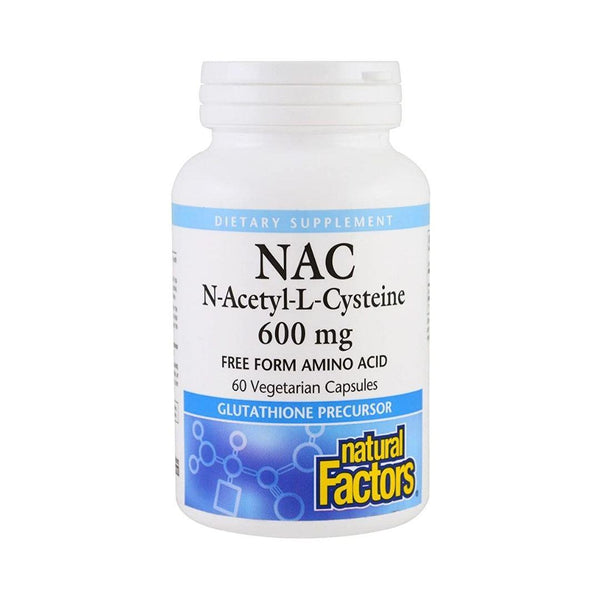 Natural Factors N-Acetyl-L-Cysteine (NAC) 600mg 60 Capsules
