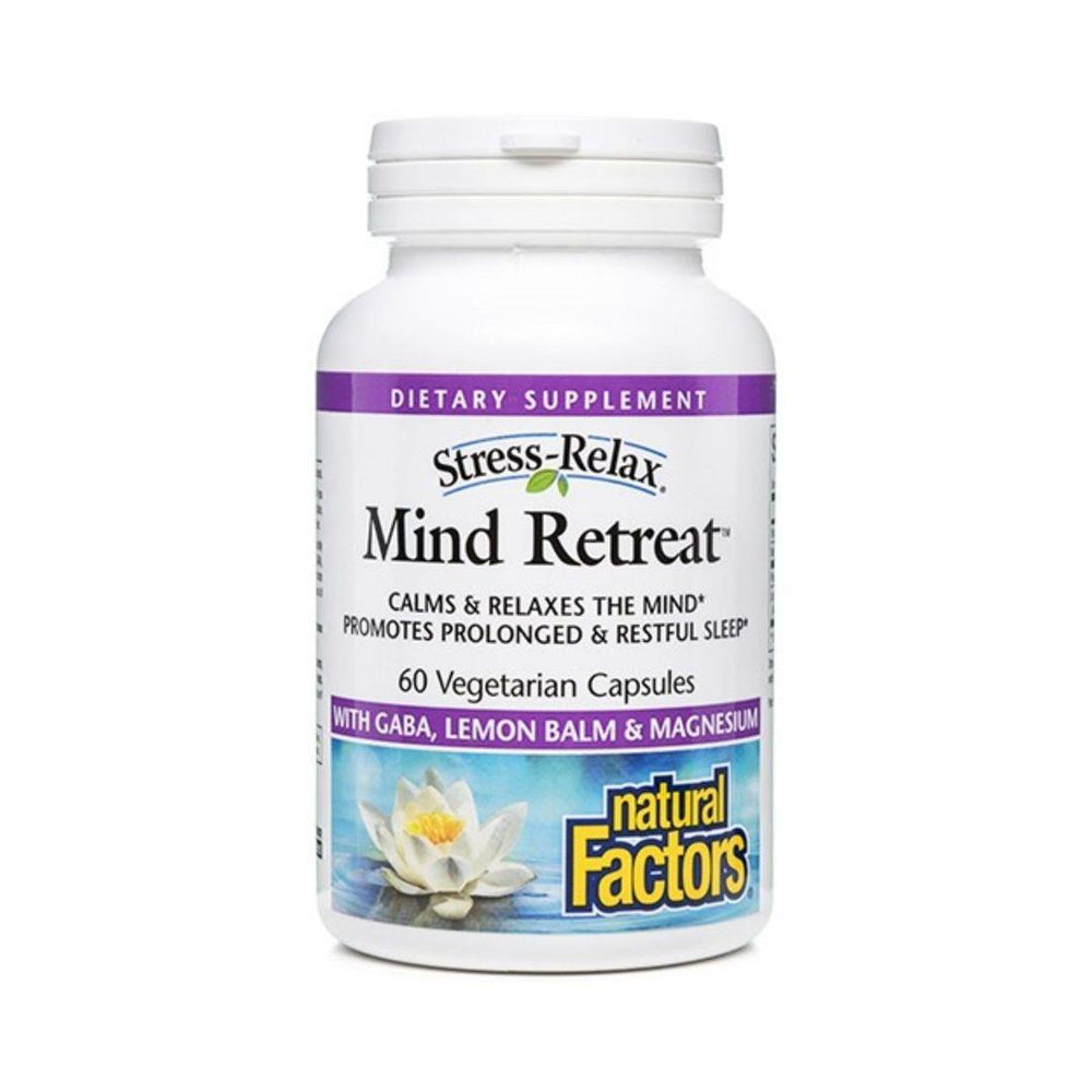 Natural Factors Mind Retreat w/ Lemon Balm & GABA 60 Capsules
