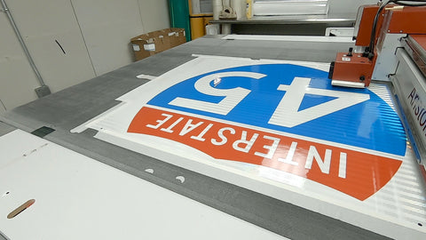 Interstate Shield cut out using Aristo