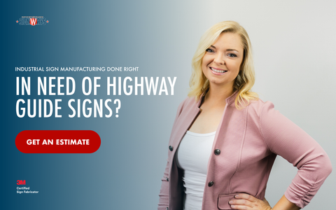 get an estimate on highway guide signs