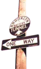 1960s One Way Sign Iteration