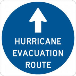 EM-1 Hurricane Evacuation Route (Ahead)