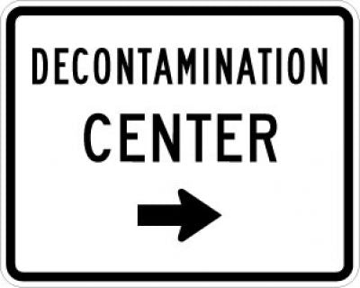 EM-6dR Decontamination Center Right Arrow