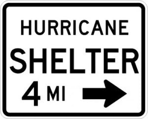 EM-7bR Hurricane Shelter DistanceRight Arrow