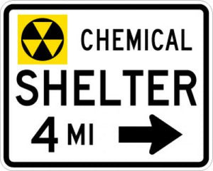 EM-7dR Chemical Shelter Distance Right Arrow