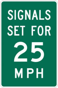 I1-1 Signals Set for (Number) MPH - Customizable