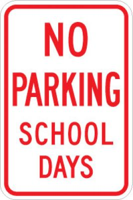 LR7-32 No Parking School Days