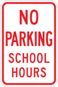 LR7-33 No Parking School Hours