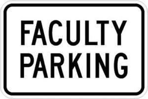 LR7-54 Faculty Parking