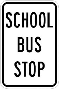 LW9-27 School Bus Stop