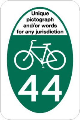 M1-8a Bicycle Route Marker - Customizable