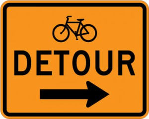 M4-9cR Bicycle Detour (Right Arrow)