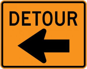M4-9L Detour (Left Arrow)