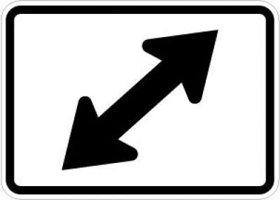 M6-5L Directional Arrow (Double Left 45 Degree)