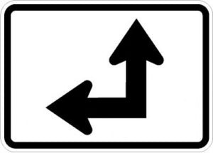 M6-6L Directional Arrow (Up Left 90 Degree Bend)