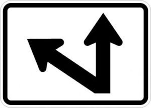 M6-7L Directional Arrow (Up Left 45 Degree Bend)