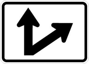 M6-7R Directional Arrow (Up Right 45 Degree Bend)