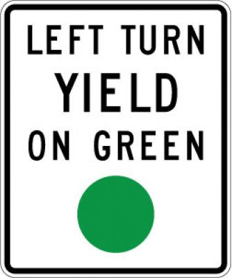 R10-12 Left Turn Yield On Green