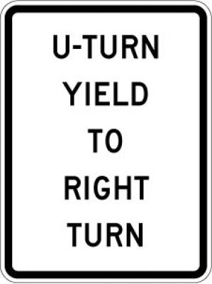 R10-16 U-Turn Yield To Right Turn