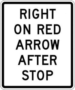 R10-17a Right On Red Arrow After Stop