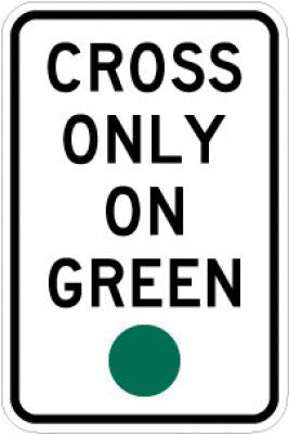 R10-1 Cross Only On Green (Green Circle)