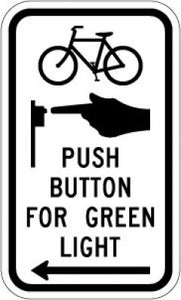R10-26 (Symbol) Push Button For Green Light (Arrow)