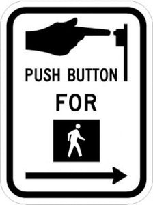 R10-3R Push Button For (Walk Symbol)(Right Arrow)