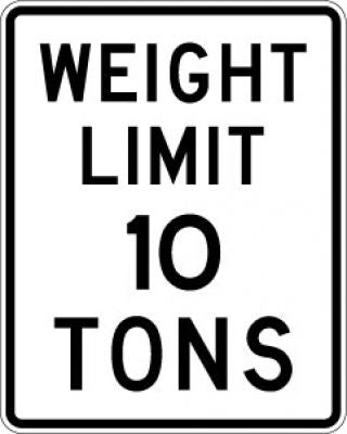 R12-1 Weight Limit (#) Tons - Customizable