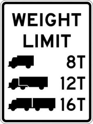R12-5 Weight Limit (Truck) (#)T (Truck) (#)T (Truck) (#)T - Customizable