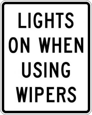 R16-5 Lights On When Using Wipers