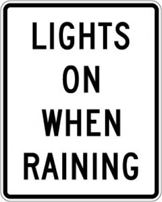 R16-6 Lights On When Raining