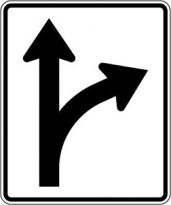 R3-6R Right & Straight Arrow Symbol