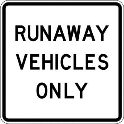 R4-10 Runaway Vehicles Only