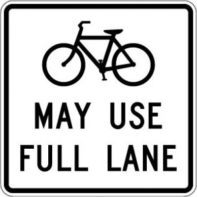 R4-11 (Bike) May Use Full Lane