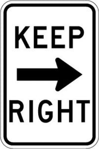 R4-7a Keep (Right Arrow) Right