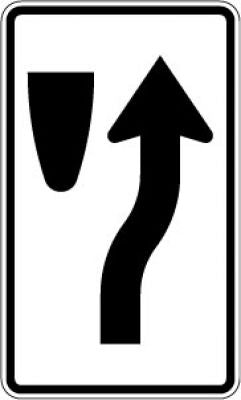 R4-7c Keep Right Symbol