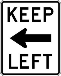 R4-8a Keep (Left Arrow) Left
