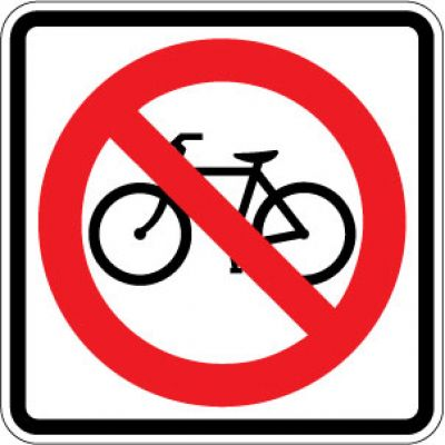 R5-6 No Bicycles Symbol