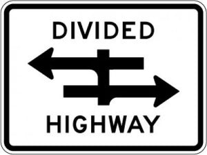 R6-3 Divided Highway Crossing