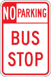R7-107 No Parking Bus Stop