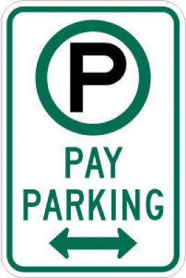 R7-22D (Symbol) Pay Parking (Double Arrow)