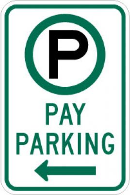 R7-22L (Symbol) Pay Parking (Left Arrow)