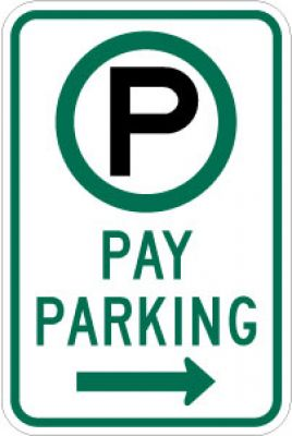 R7-22R (Symbol) Pay Parking (Right Arrow)