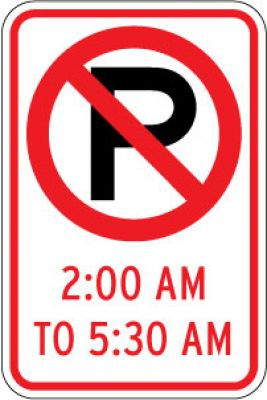R7-2 (No Parking Symbol) (Time) - Customizable