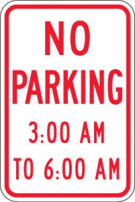 R7-2a No Parking (Time)- Customizable