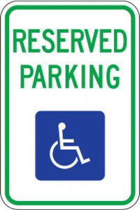 R7-8 Reserved Parking (Handicapped Symbol)