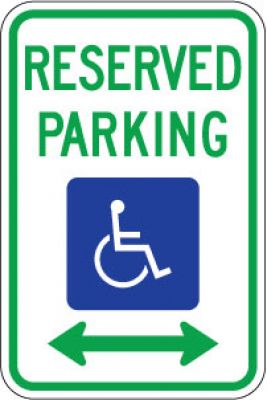 R7-8D Reserved Parking (Handicapped Symbol) (Double Arrow)