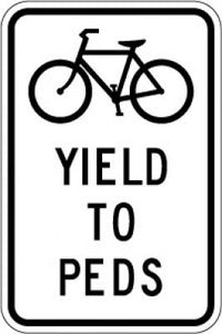 R9-6 (Bike) Yield To Peds