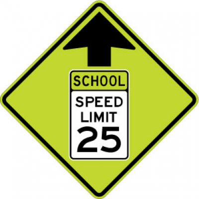S4-5 Reduced Speed Ahead School Speed Limit (#) - Customizable